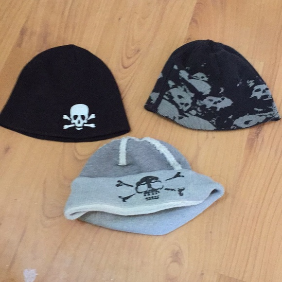 790d84a674381 Hot Topic Accessories - Bundle of 3 skull beanie hats